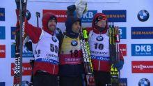 Emil Hegle Svendsen (2.) Martin Fourcade (1.) Johannes Thingnes Boe (3.)