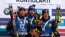 Andrejs Rastorgujevs (2.) Anton Shipulin (1.) Quentin Fillon Maillet (3.)