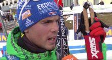 Simon Schempp, Platz 6, beim Interview
