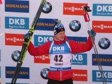 Johannes Thingnes Boe (NOR) Sieg im Sprintrennen