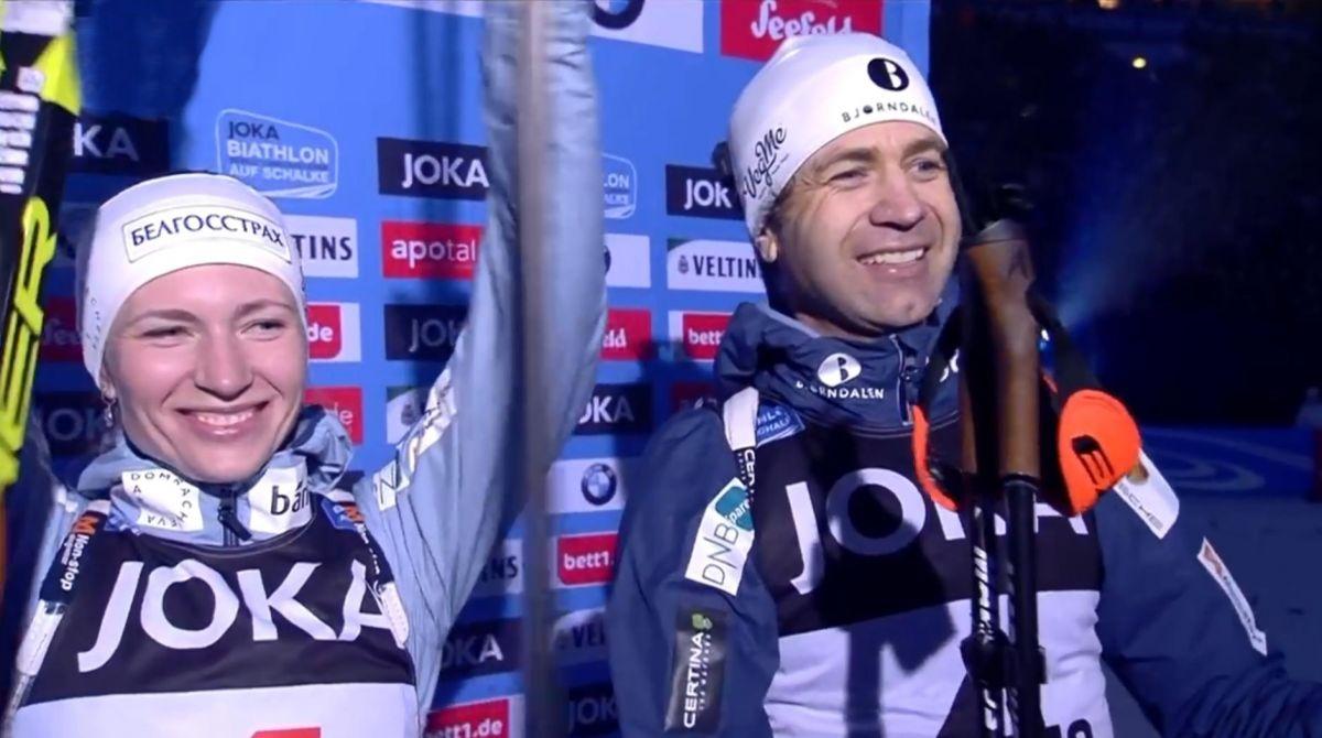 Platz 3, Darja Domratschewa, Ole Einar Björndalen