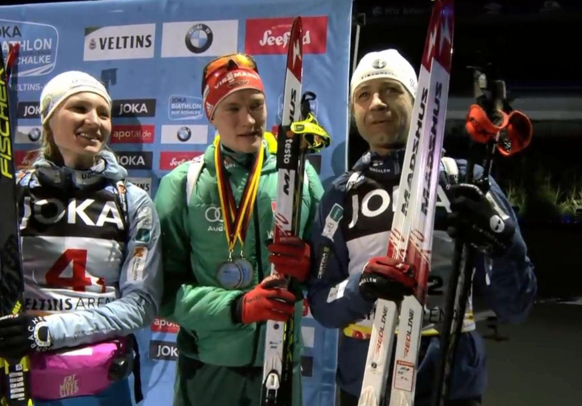Darja Domratschewa, Ole Einar Björndalen Platz 3, mit Benni Doll