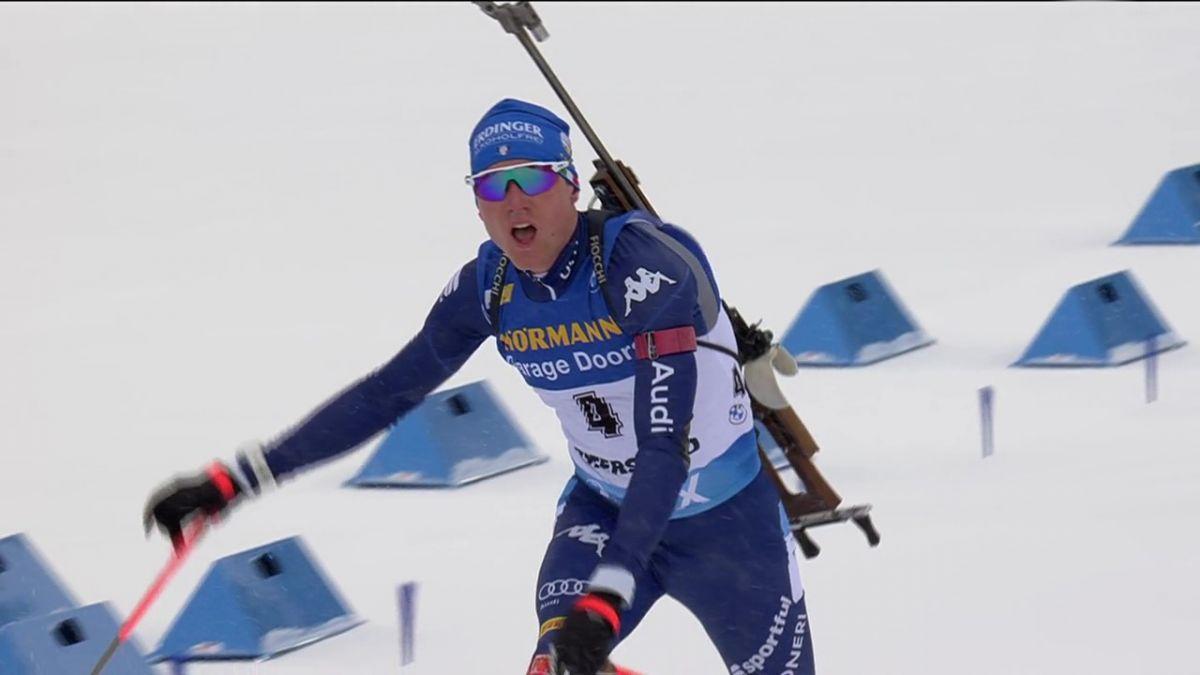 Sieg im Sprint, Lukas Hofer