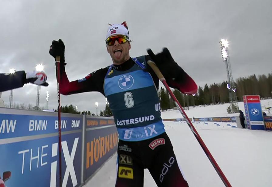 Sturla Holm Laegreid siegt im Verfolger von Östersund