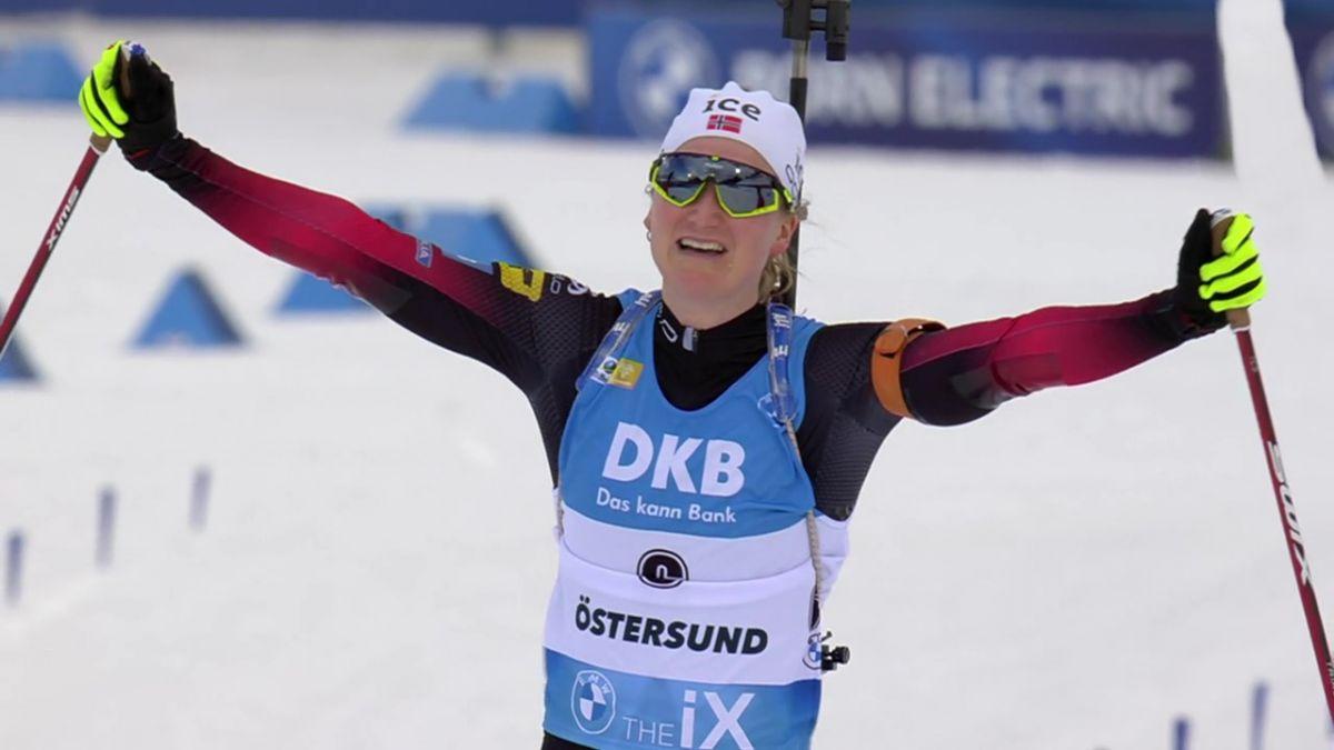 Sieg in der Verfolgung von Östersund für Marte Olsbu Roiseland