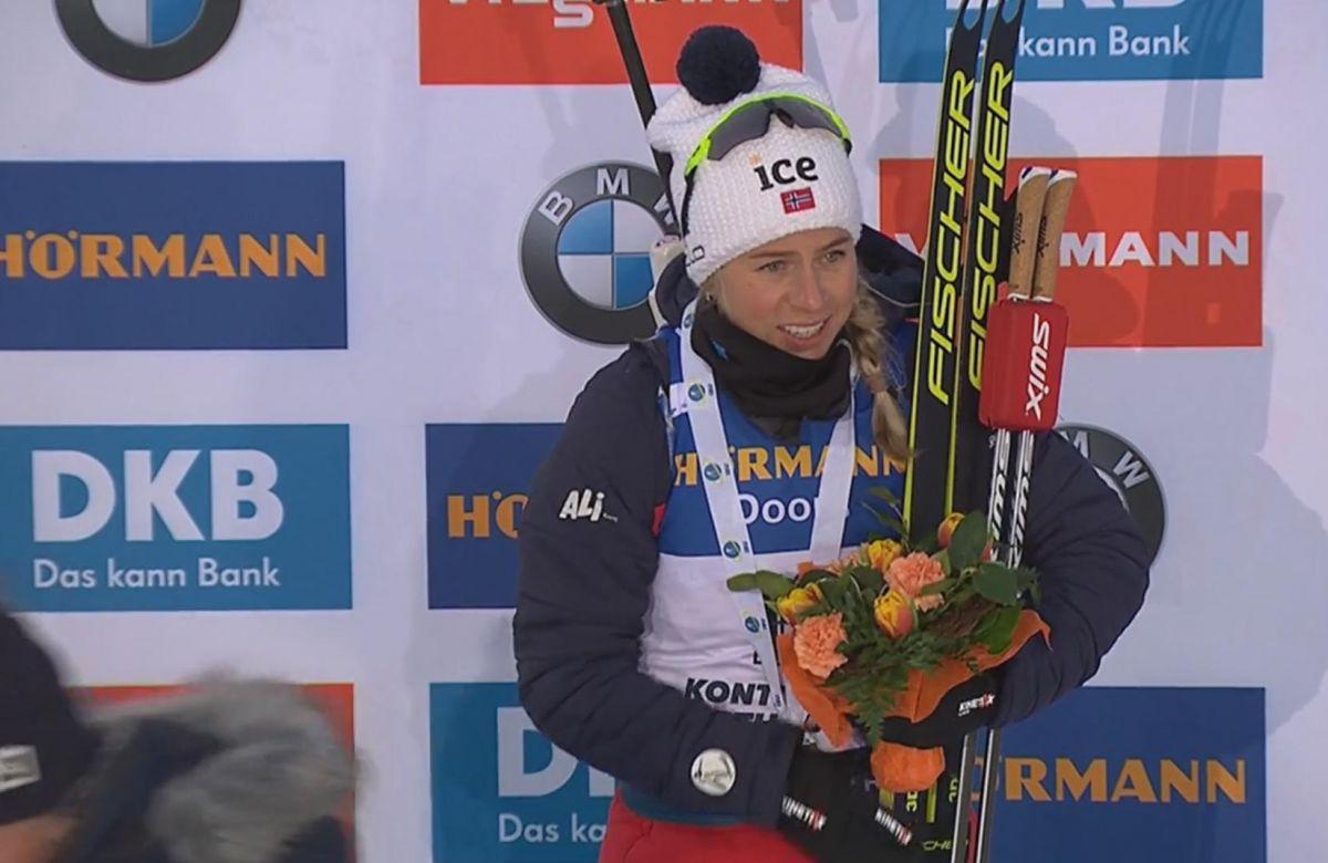 Platz 3 für Tiril Eckhoff (NOR) im Sprint